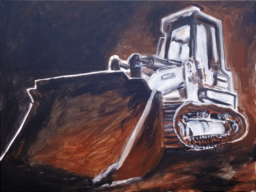 Bulldozer schwarzbraun l